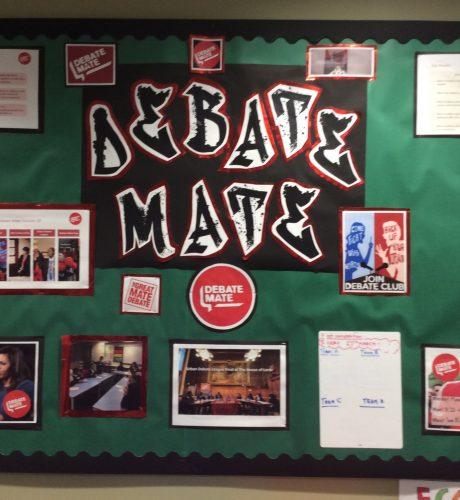 Debate Mate display in Key Stage 2