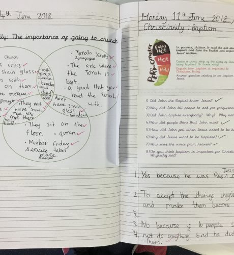 Year 4 comparing faiths and understanding Christianity