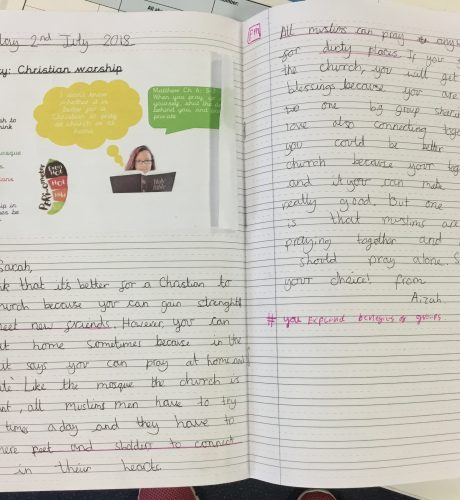 Year 4 empathising with a person of faith