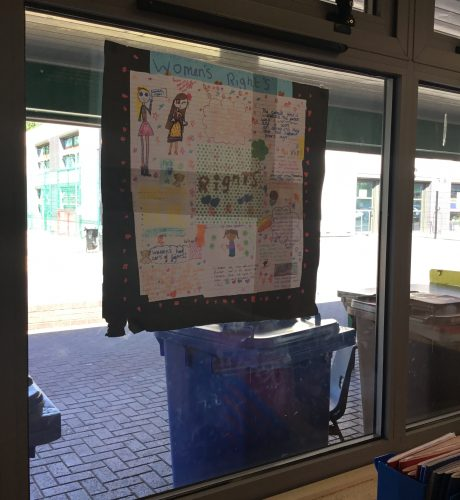 Year 4 own interests displayed in classrooms
