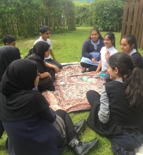 Year 6 pupils in Willow gardens