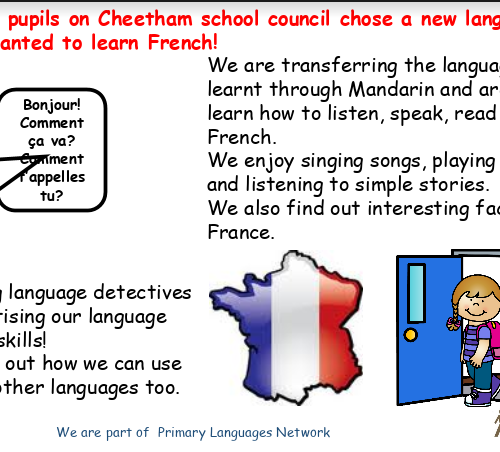 Our school French statement